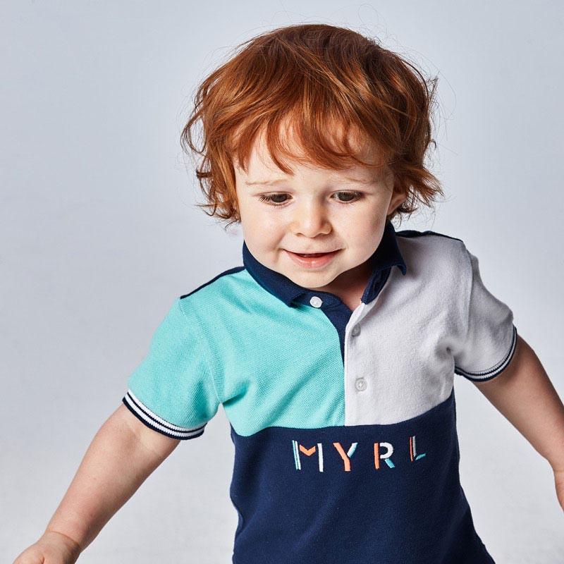 Бебешка поло блуза с яка Mayoral 1110