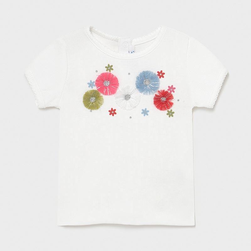 Бебешка тениска с бродерии Mayoral 1084