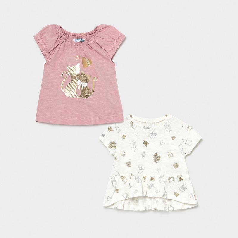 Комплект бебешки тениски с котенца Mayoral 1089