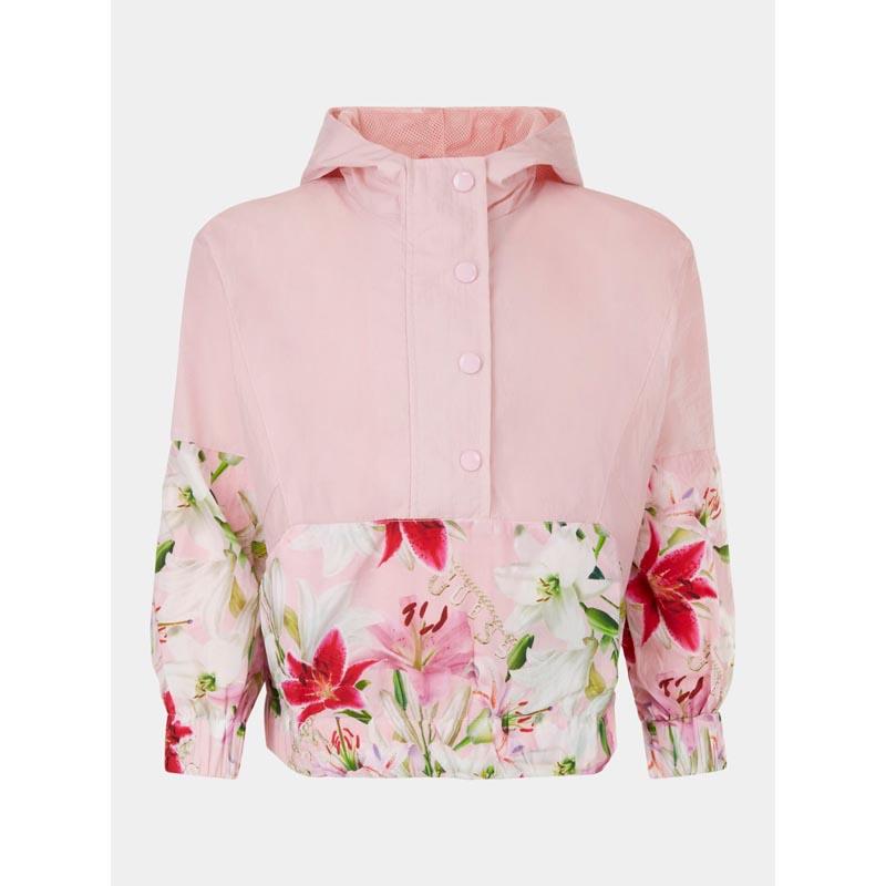 Пролетно яке с флорални акценти и пъстри цветове Guess J1RL02WDM50