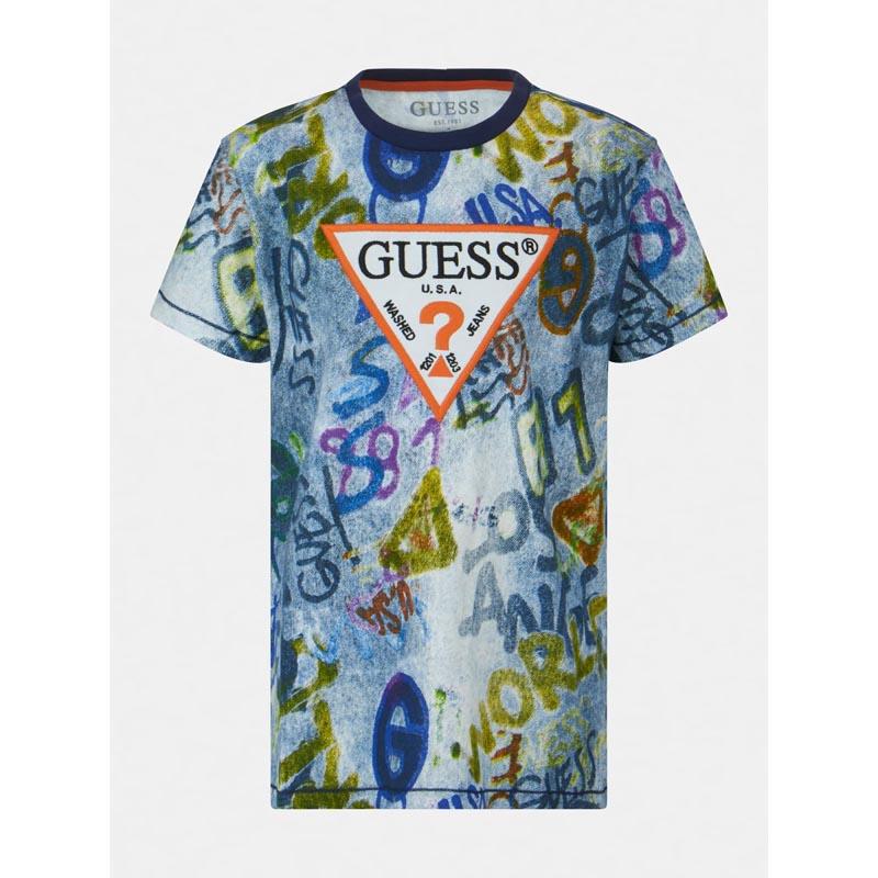 Тениска с ефект деним Guess L1RI07K8HM0