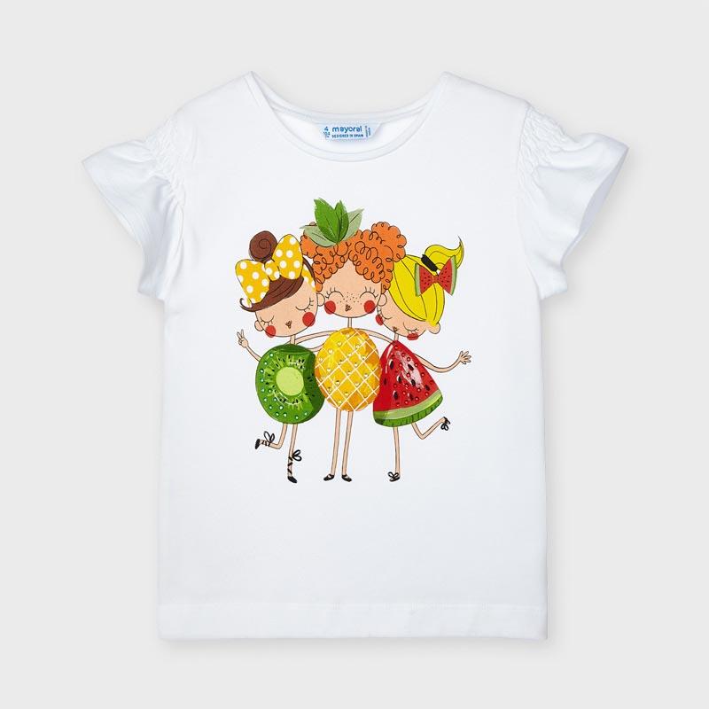 Блуза с ефектни ръкави за момиче Mayoral 3019