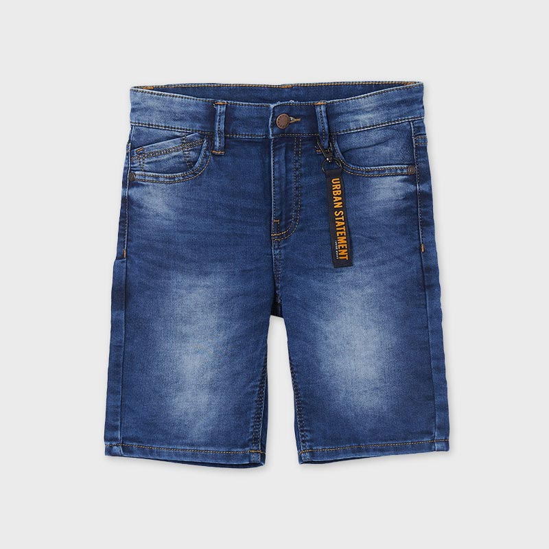Къс дънков панталон тип бермуди за момче Mayoral 6293