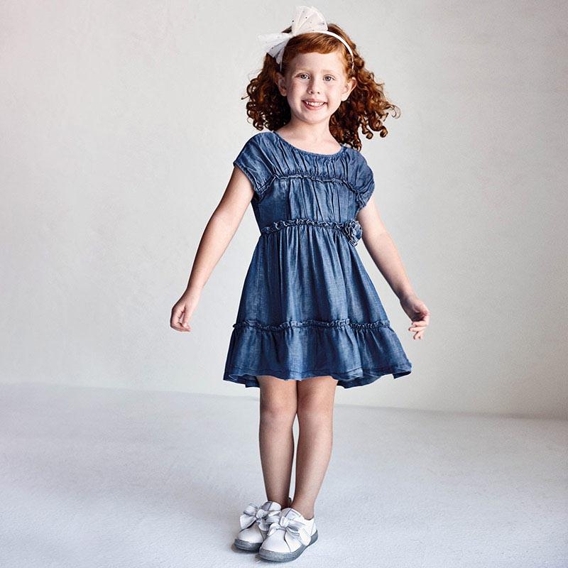 Детска рокля от тенсел и ластични ленти Mayoral 3936