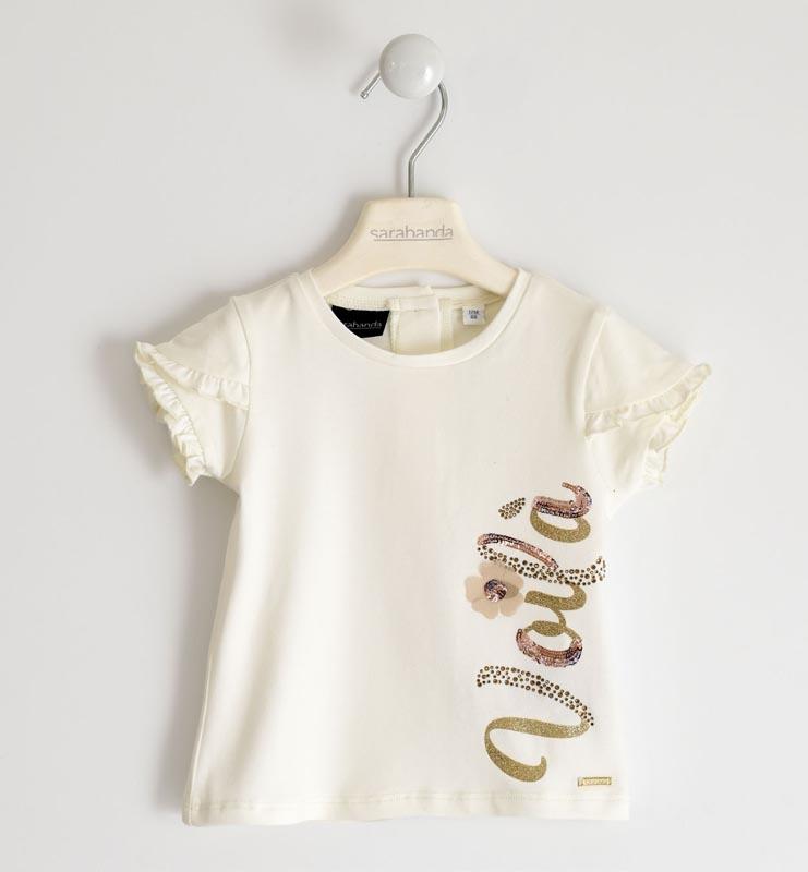Детска блуза с нежни къдрици по ръкавите Sarabanda 02562