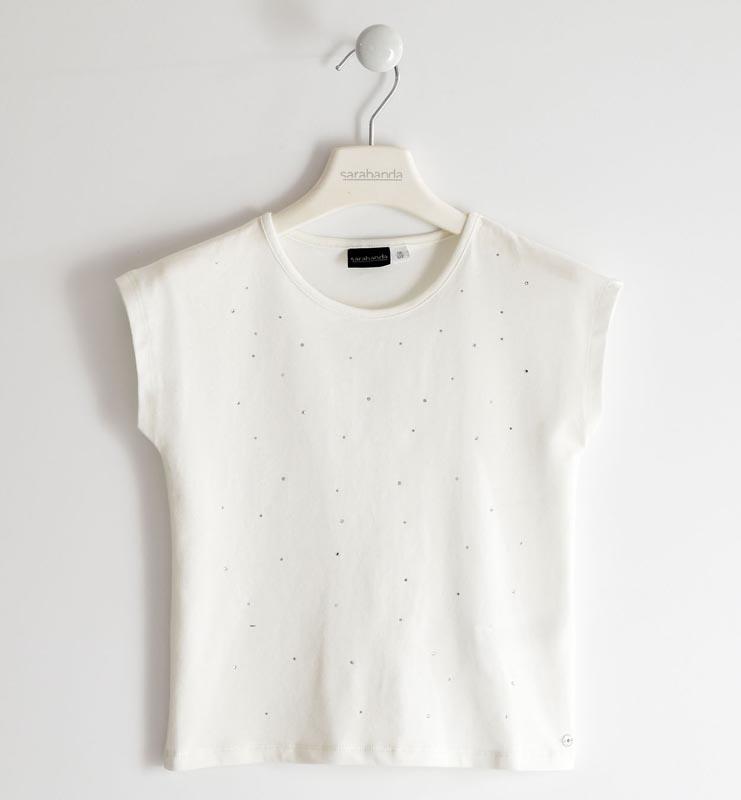 Спортно-елегантна блуза с нежни камъни Sarabanda 02411