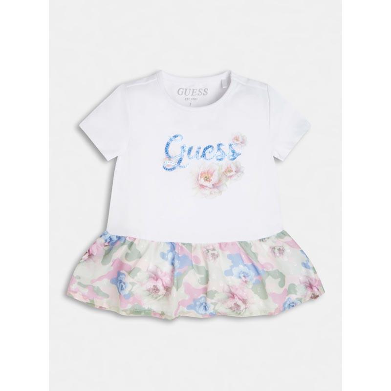 Ефектна бебешка рокля с флорални мотиви за момиче Guess K1RI03K6YW0