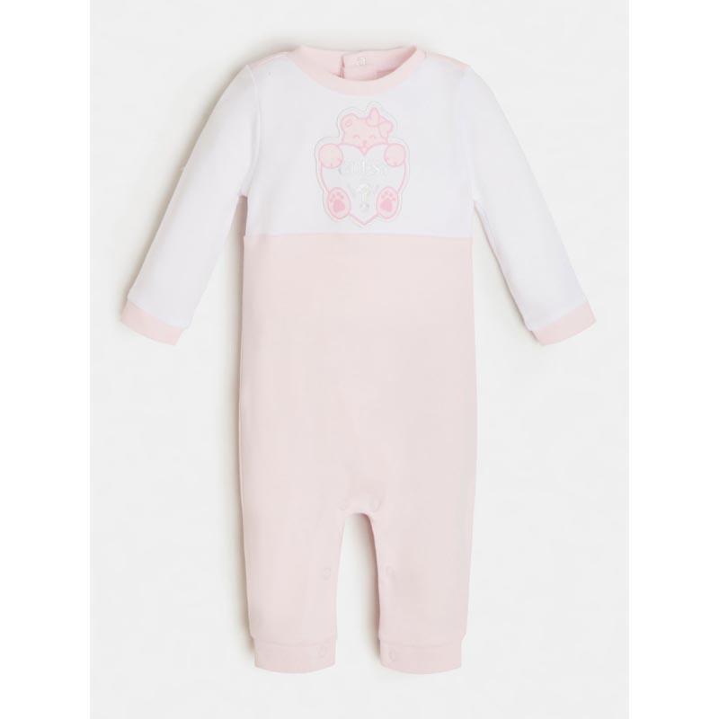 Бебешки памучен гащеризон за момиче Guess H1RW02KA6W0