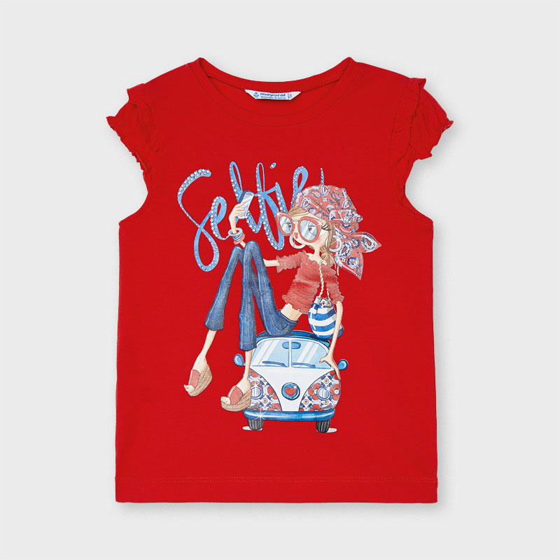 Детска красива тениска с щампа 3013