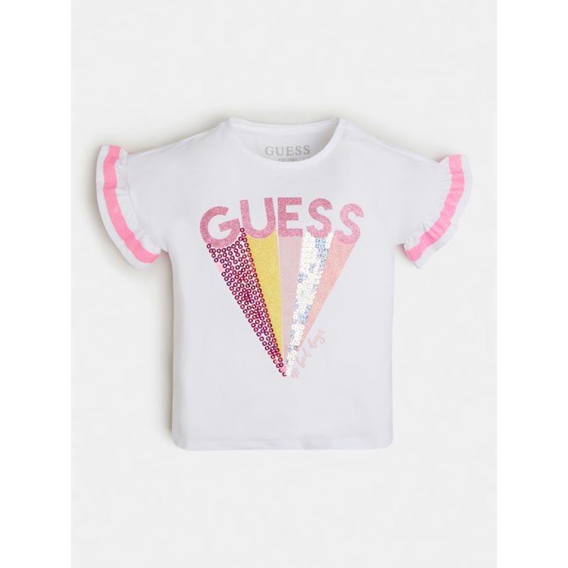 Детска тениска с къдрици Guess K1RI04K6YW1
