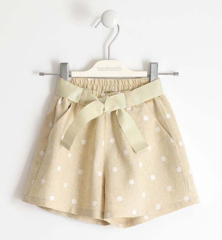 Детски стилен къс панталон за момиче Sarabanda 02590