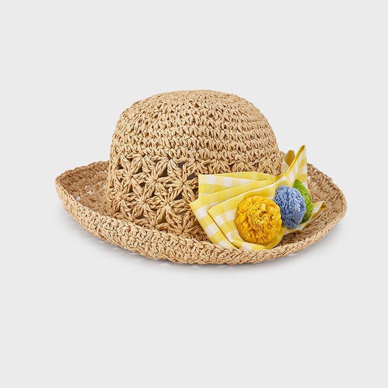 Детска лятна шапка с красиви цветя Mayoral 10081