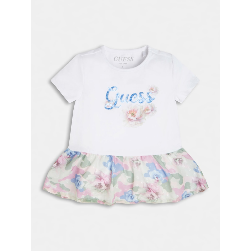 Ефектна детска рокля с флорални мотиви за момиче Guess K1RI03K6YW0