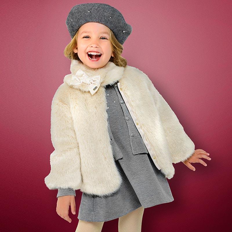 Детско палто с косъм Mayoral 4494