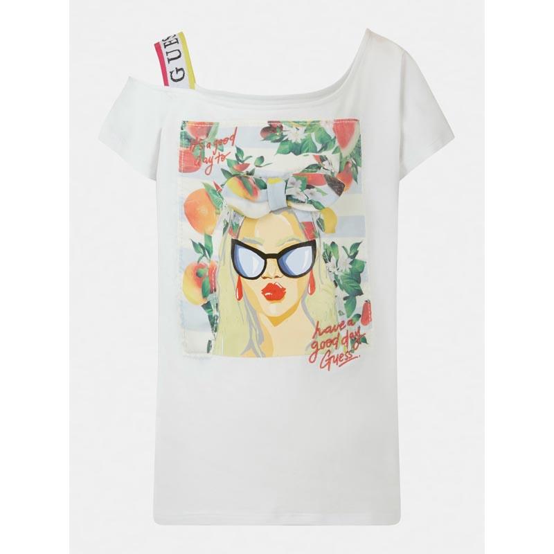 Детска тениска с тропически мотиви и интересен дизайн Guess J1GI25K6YW1