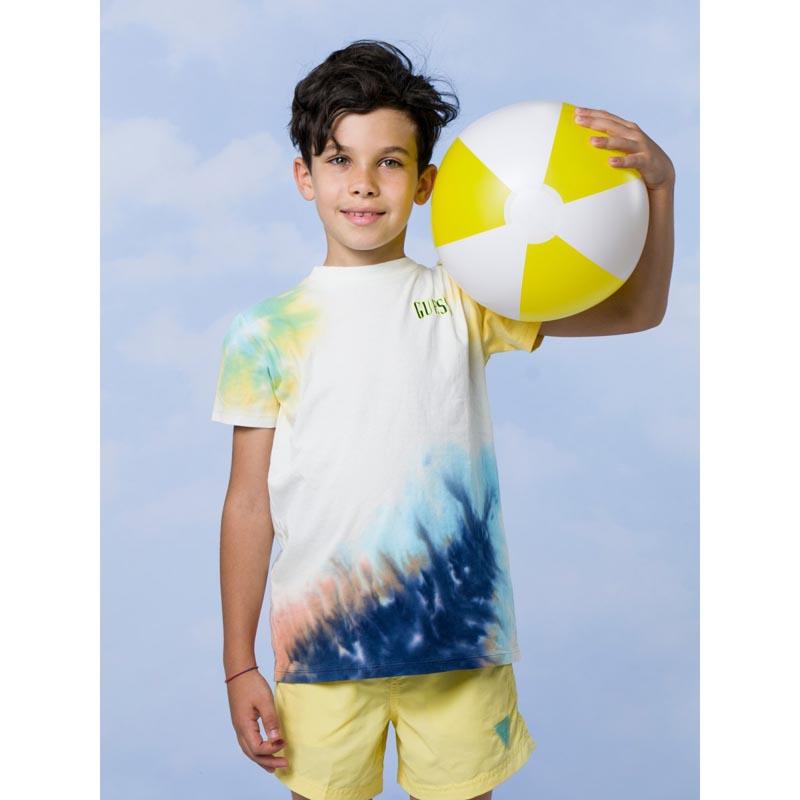 Свежа тениска с преливащ омбре ефект Guess L1GI19K8HM0