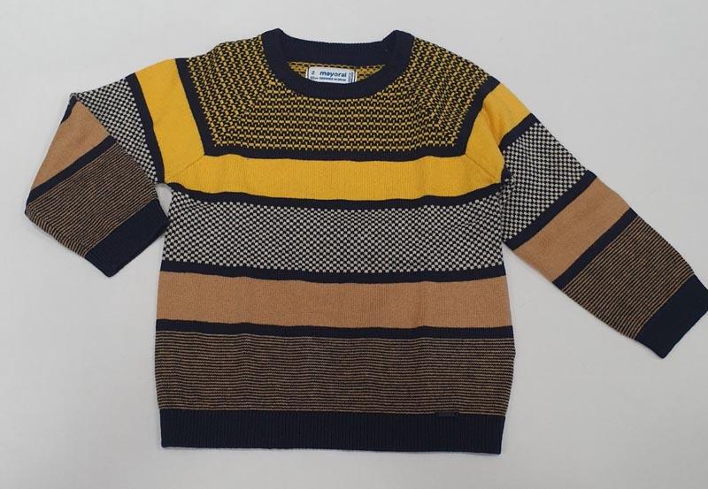 Цветен детски пуловер изработен от фино плетиво Mayoral 4300