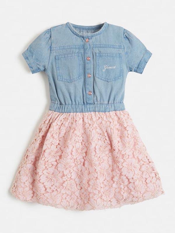 Детска рокля от деним Guess K1RK10D400