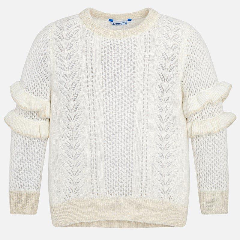 Детски пуловер с перфориран ефект Mayoral 7316