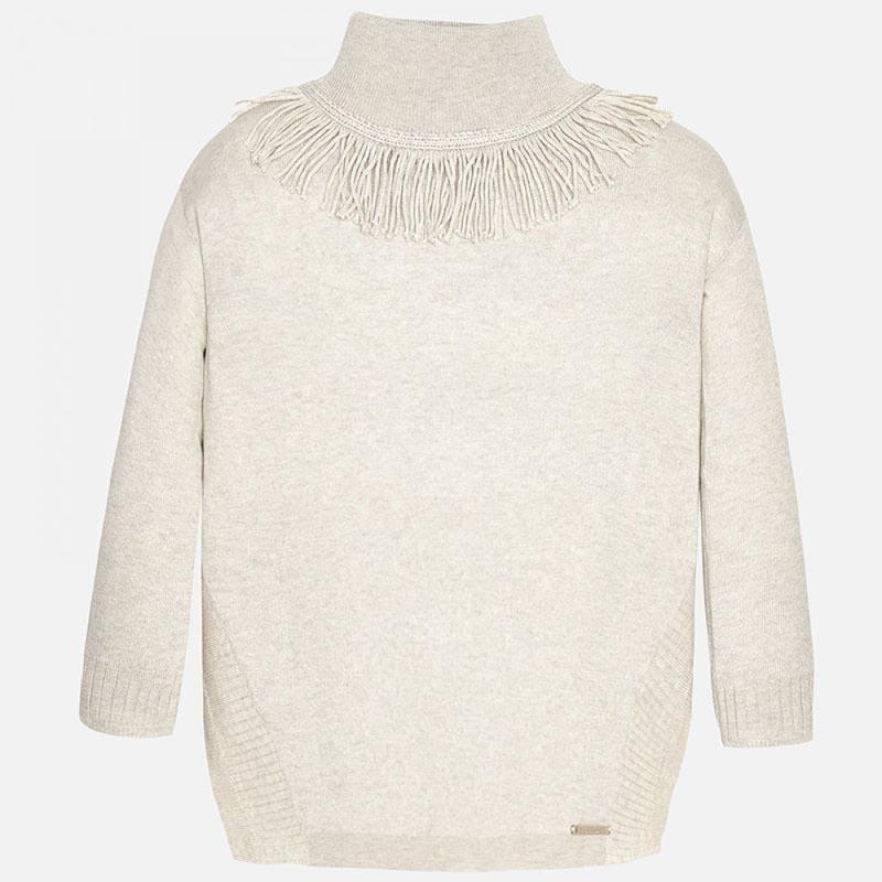 Пуловер с интересни елементи около шията Mayoral 7320