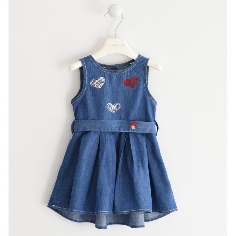 Детска дънкова рокля Sarabanda  DJ054