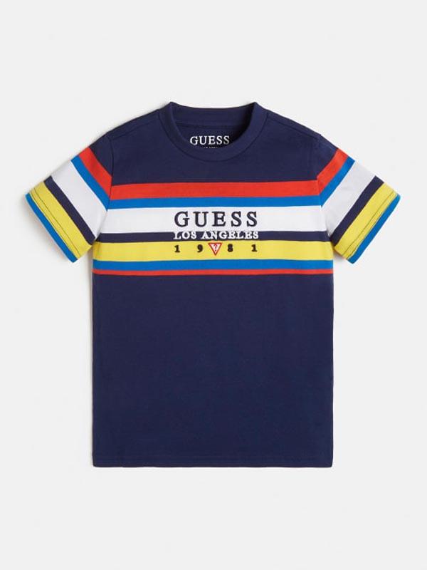 Детска тениска със свежи за сезона цветове Guess N1YI05K8HM0