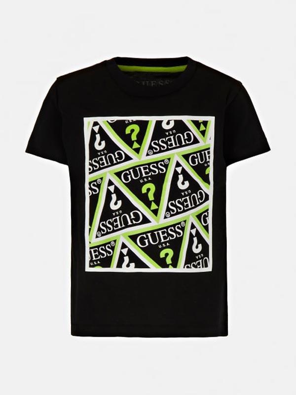 Детска тениска със свежи надписи Guess N1YI25K8HM0