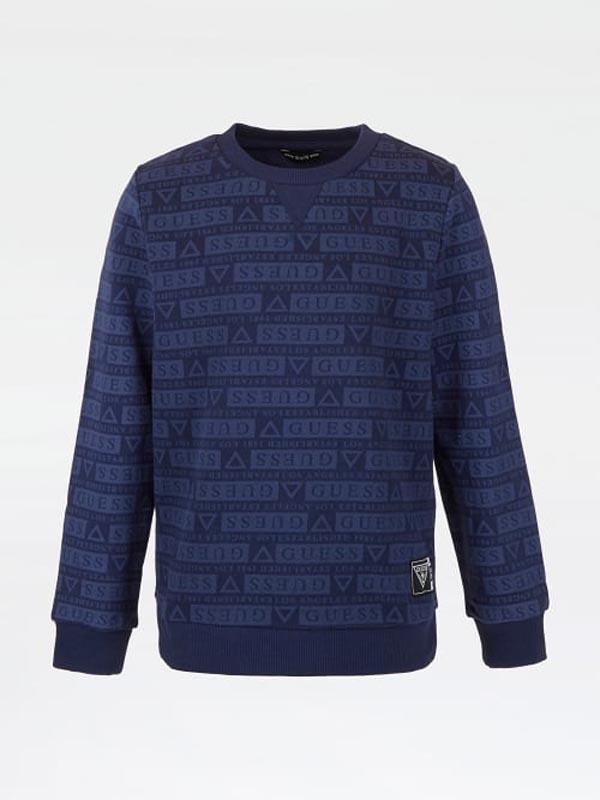Плътна детска блуза с надписи Guess L1YQ00KA6R0