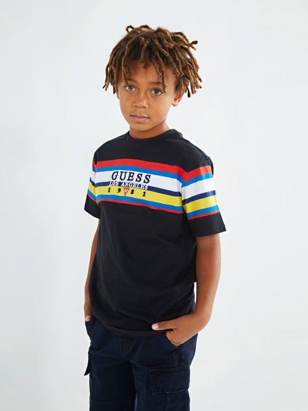 Детска тениска със свежи за сезона цветове за момче Guess L1YI06K8HM0
