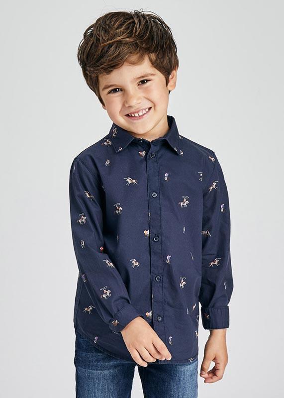 Риза за момче с щампи Mayoral 4170