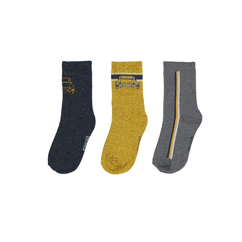 Комплект от 3 чифта дълги чорапи за момче Mayoral 10137