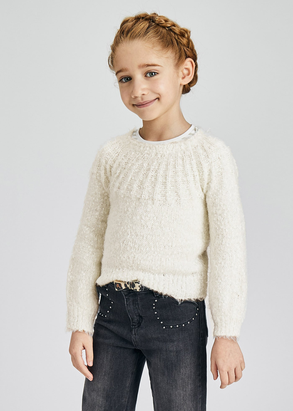 Изчистен детски пуловер Mayoral 4372