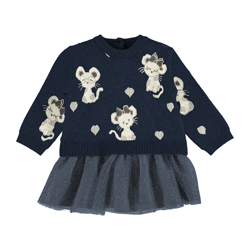 Комбинирана бебешка рокля Mayoral 2923