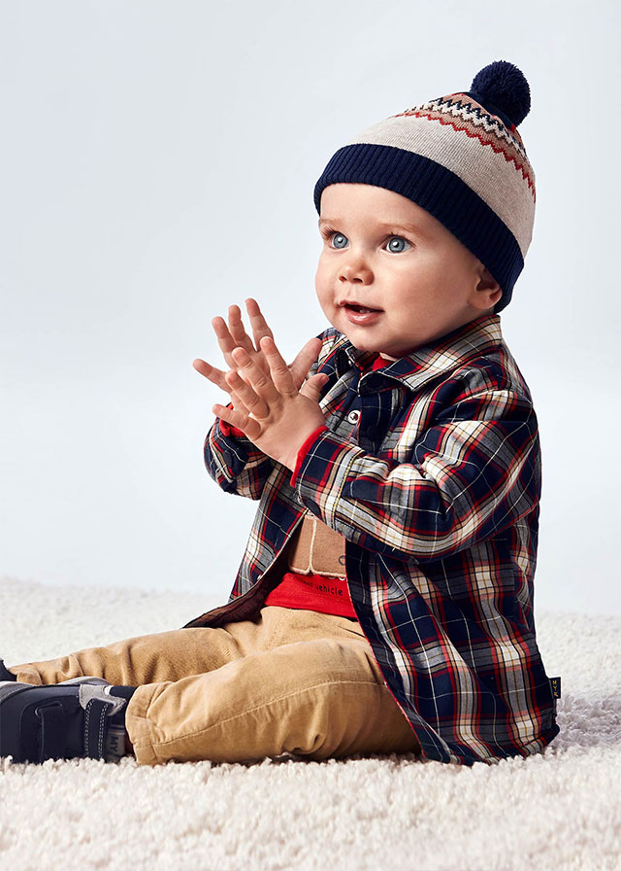 Бебешка спортно- елегантна риза  Mayoral 2144