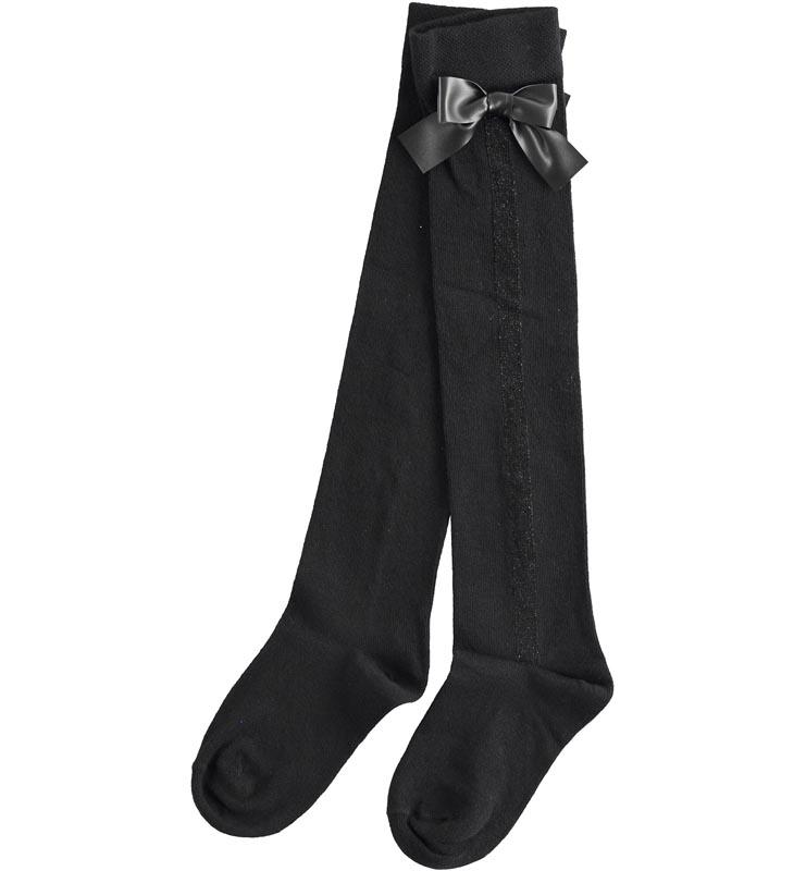 Високи чорапи от фино плетиво за момиче Sarabanda 03575
